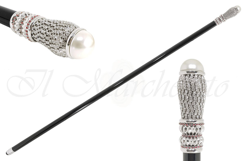 Handmade Walking Sticks - Swarovski Crystal Encrusted - il-marchesato