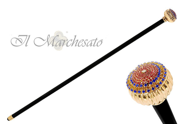 Wonderful tricolor crystal knob - il-marchesato