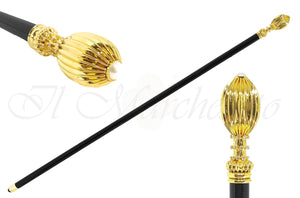 Handmade Walking stick - Crystals and brass - il-marchesato