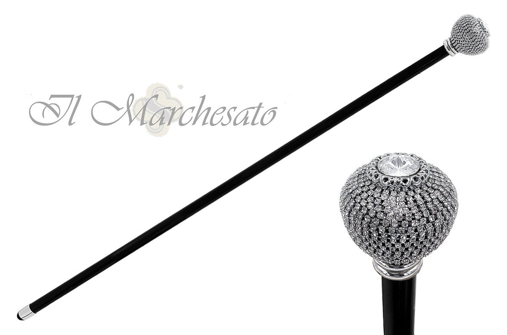 Brilliant round Knob with thousand crystals - il-marchesato