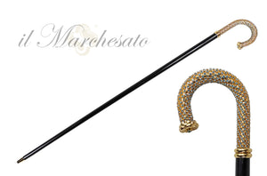 Luxury Walking stick Encrusted with hundreds Acquamarine Crystals