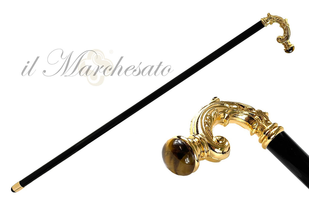 LUXURY TIGER EYE WALKING CANE