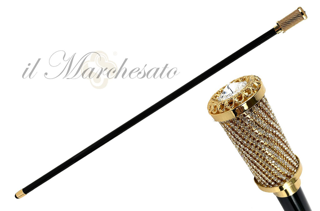 SERATA WALKING STICK SWAROVSKI CRISTALS ENCRUSTED