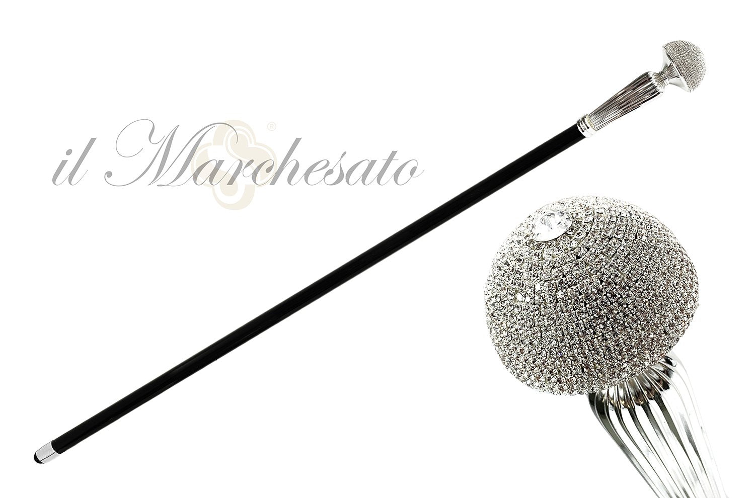 WALKING STICK  SWAROVSKI CRYSTALS ENCRUSTED