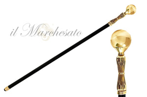 MIRROR BRASS SPHERE WALKING STICKS