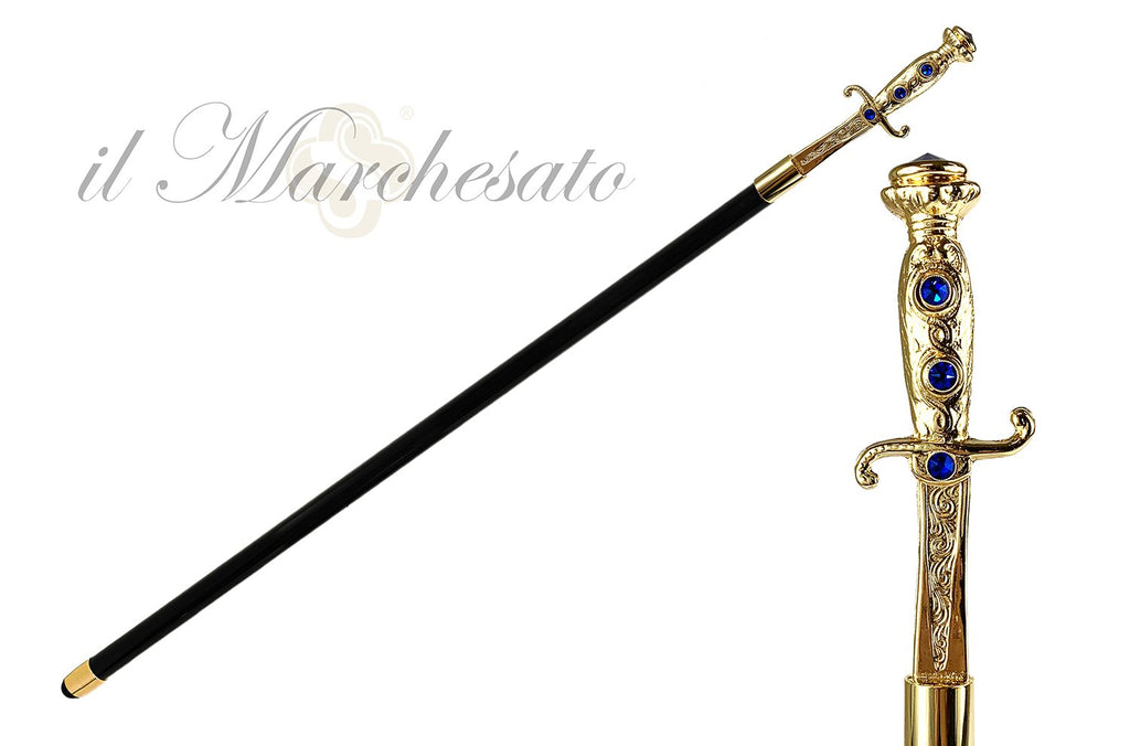 Luxury canes with Sword handle - IL MARCHESATO LUXURY UMBRELLAS, CANES AND SHOEHORNS
