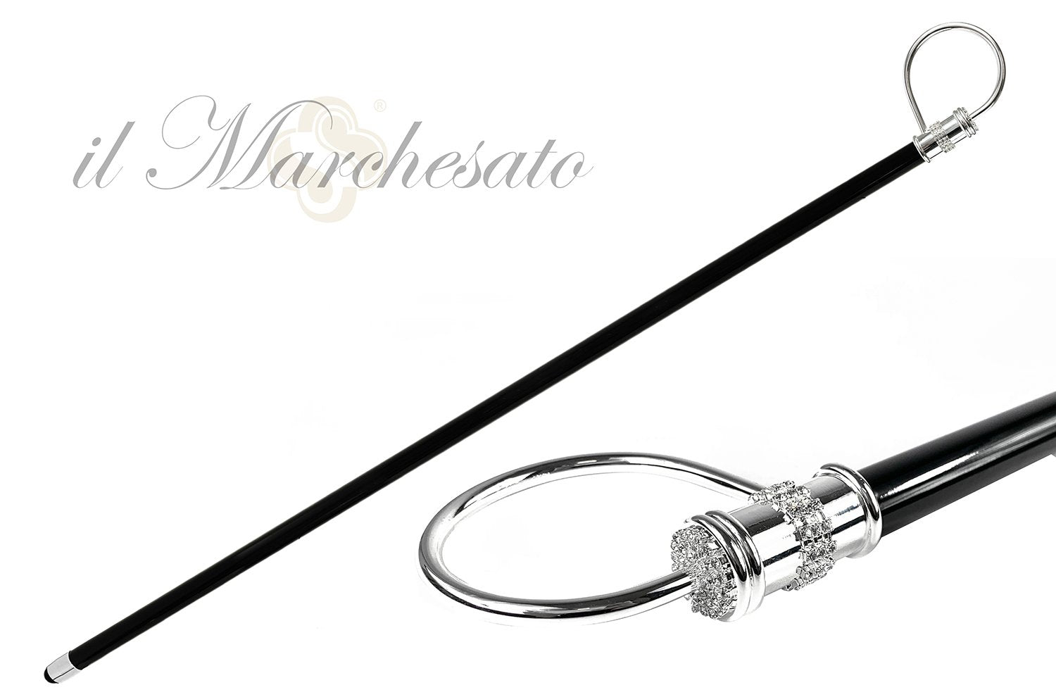 Elegant collectible Silverplated Walking stick