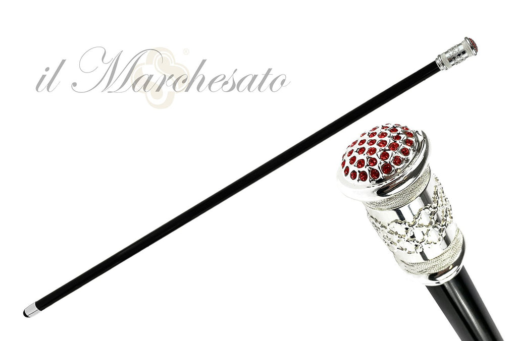 925 Silverplated Mylord handle for cerimonies - IL MARCHESATO LUXURY UMBRELLAS, CANES AND SHOEHORNS