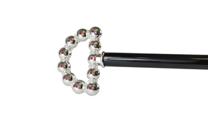 bright walking stick with spheres and crystals
