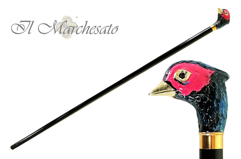 Rare Hand-Enamelled on 24k Gold pheasant - il-marchesato