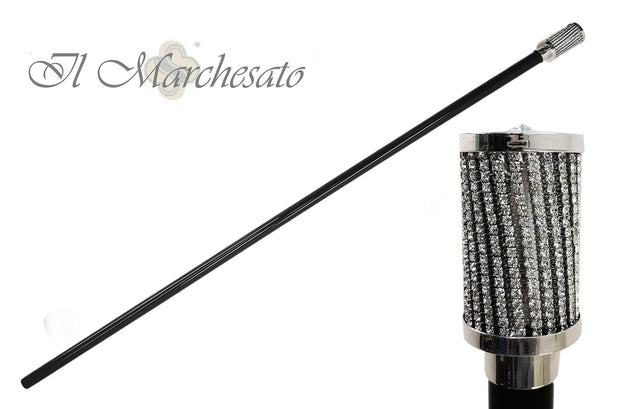 MILORD SHAPED WALKING STICKS ENCRUSTED WITH SWAROVSKI CRYSTAL