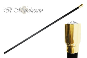 Luxurious 24K goldplated Walking Stick for Ceremonies - IL MARCHESATO LUXURY UMBRELLAS, CANES AND SHOEHORNS