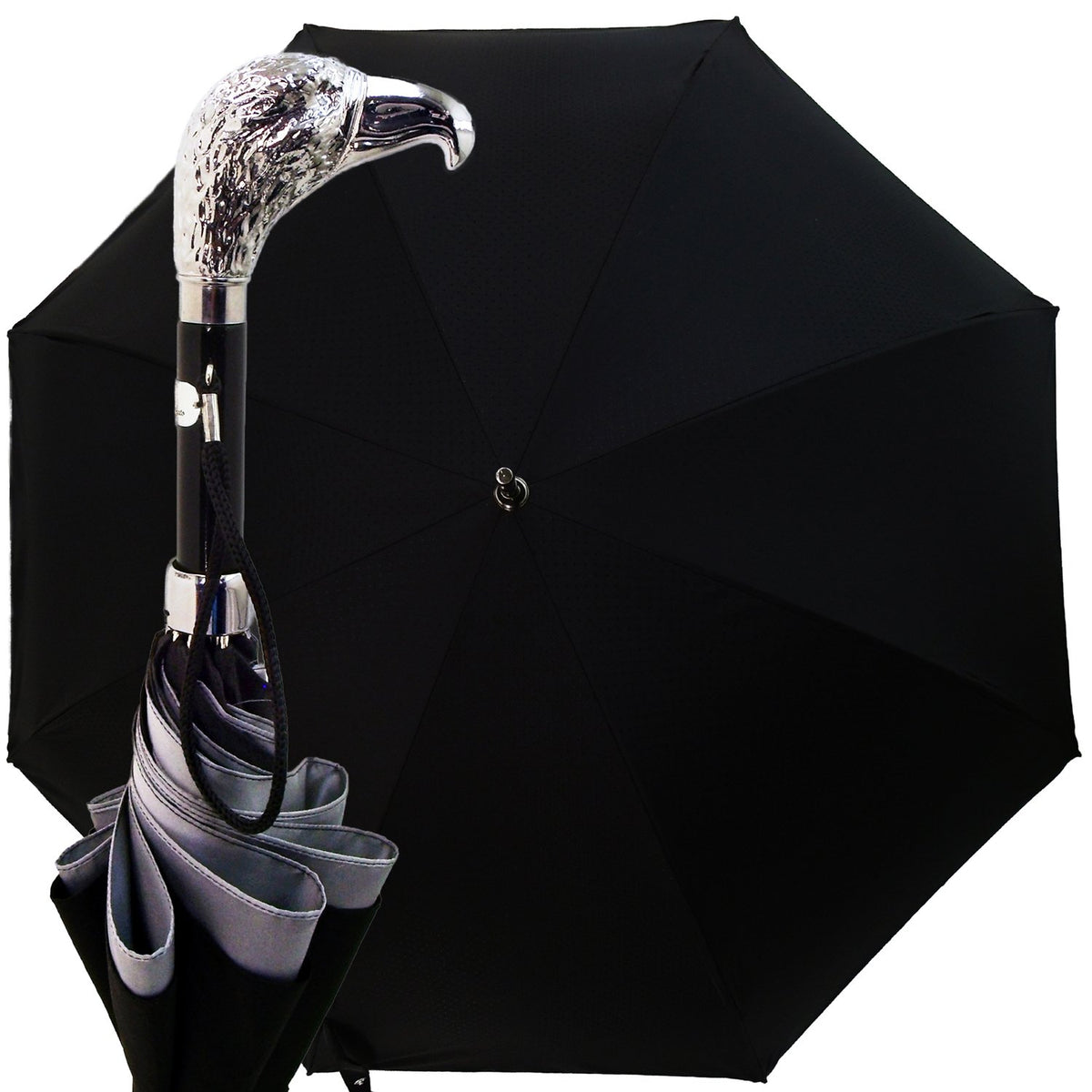 BLACK DOUBLE CLOTH MEN'S UMBRELLA