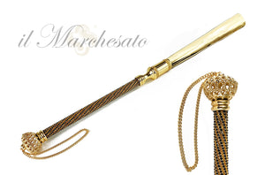 Luxury Shoehorn Encrusted with thousands of Jet crystals - IL MARCHESATO LUXURY UMBRELLAS, CANES AND SHOEHORNS