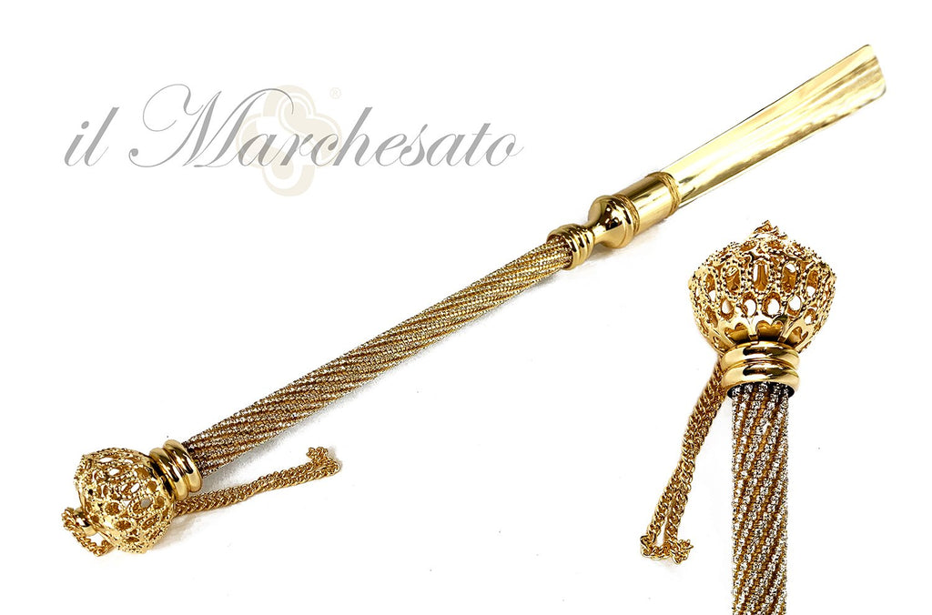 Elegant Shoehorn Encrusted with thousands of crystals - IL MARCHESATO LUXURY UMBRELLAS, CANES AND SHOEHORNS