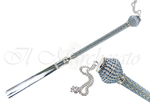 Handmade Shoehorn with Aquamarine Crystals