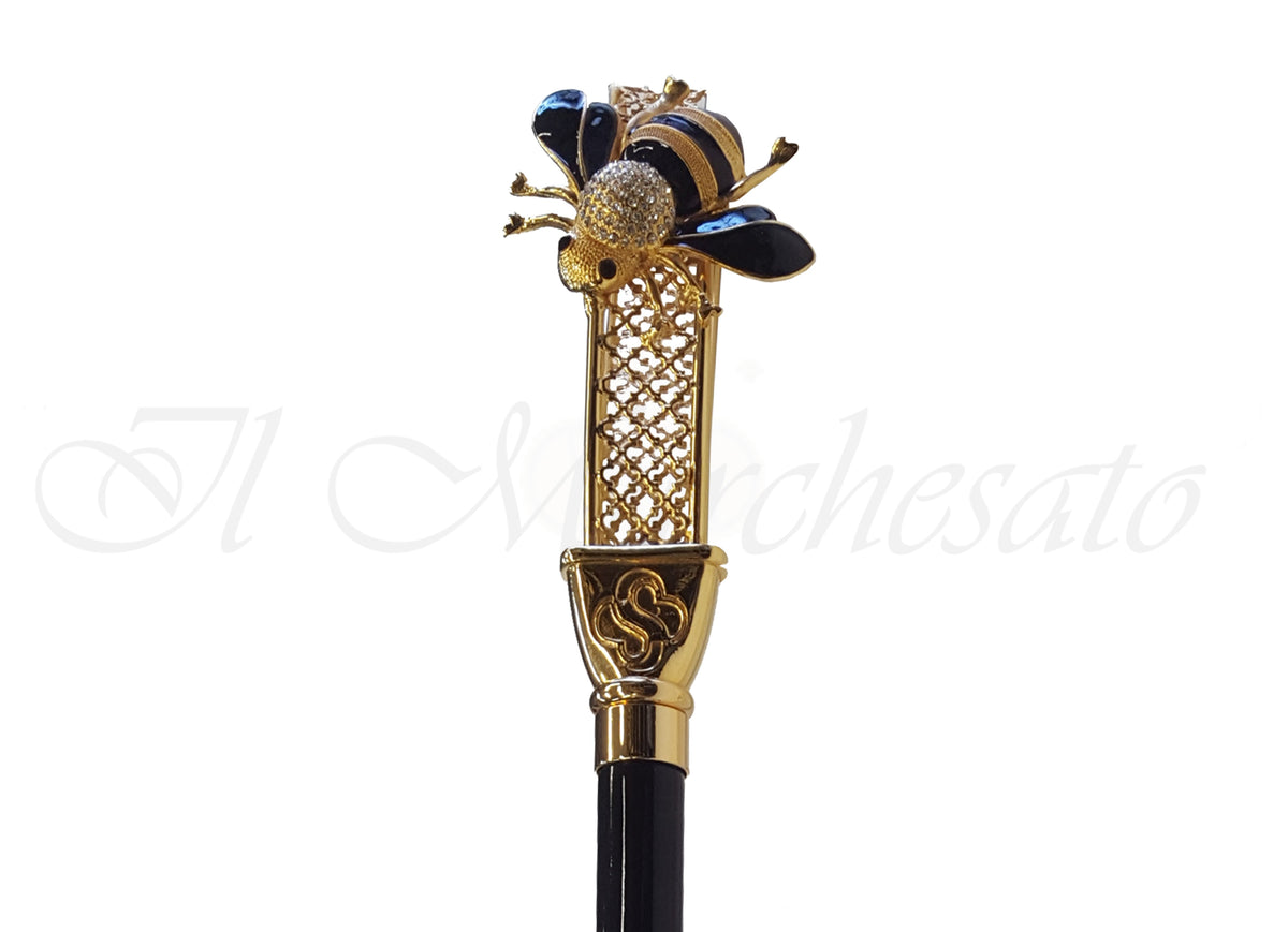 Enamelled Luxury Bee Shoehorn By il Marchesato - il-marchesato