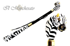 Gorgeous Enamelled Zebra Shoehorn - il-marchesato