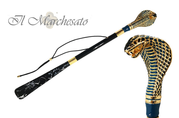 ENAMELED COBRA SHOEHORN HANDMADE ITALY
