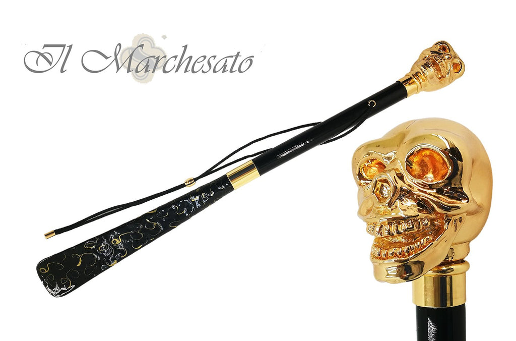Enamelled Skull Shoehorn By the Marchesate - the-marchesate