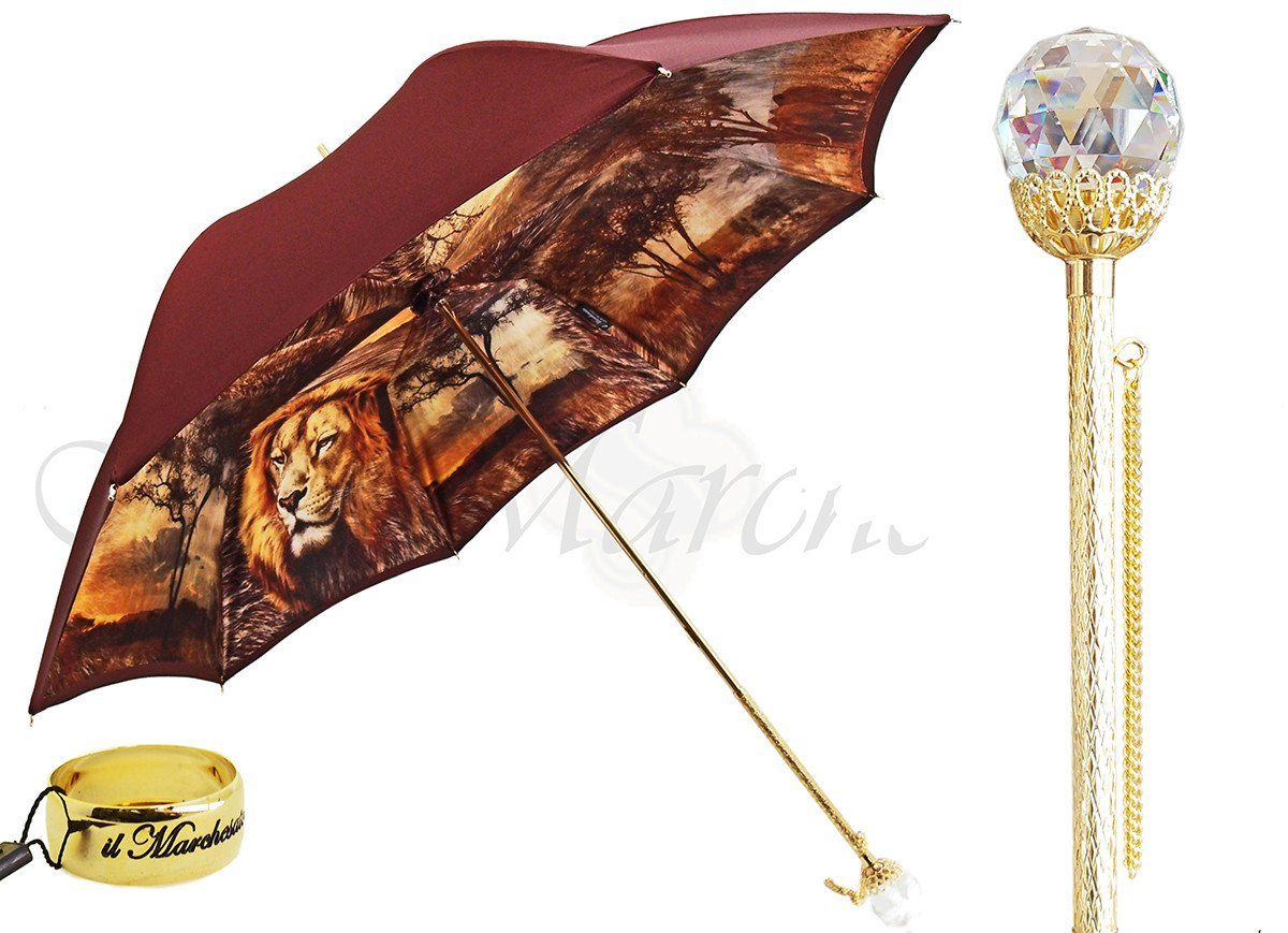 Exclusive Savana Lion Luxury Umbrella by Italian Designers il Marchesato - il-marchesato