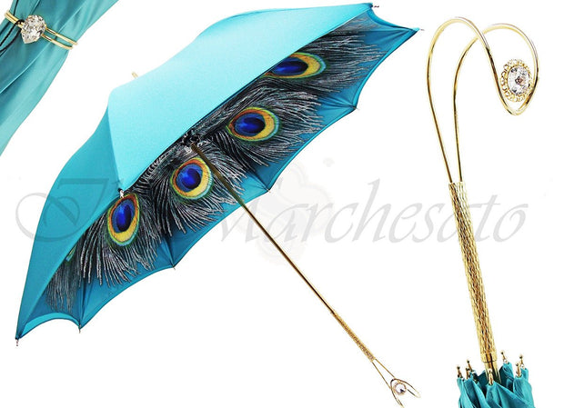 LUXURIOUS PEACOCK DOUBLE CLOTH UMBRELLA