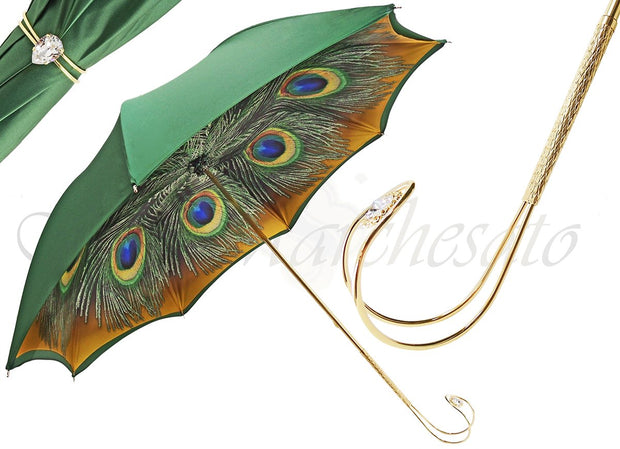 FASHIONABLE DOUBLE CLOTH PEACOCK UMBRELLA