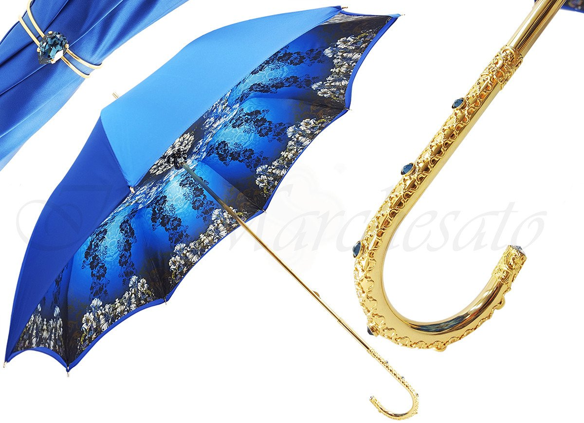 Luxurious Double Cloth Blue Umbrella - il-marchesato