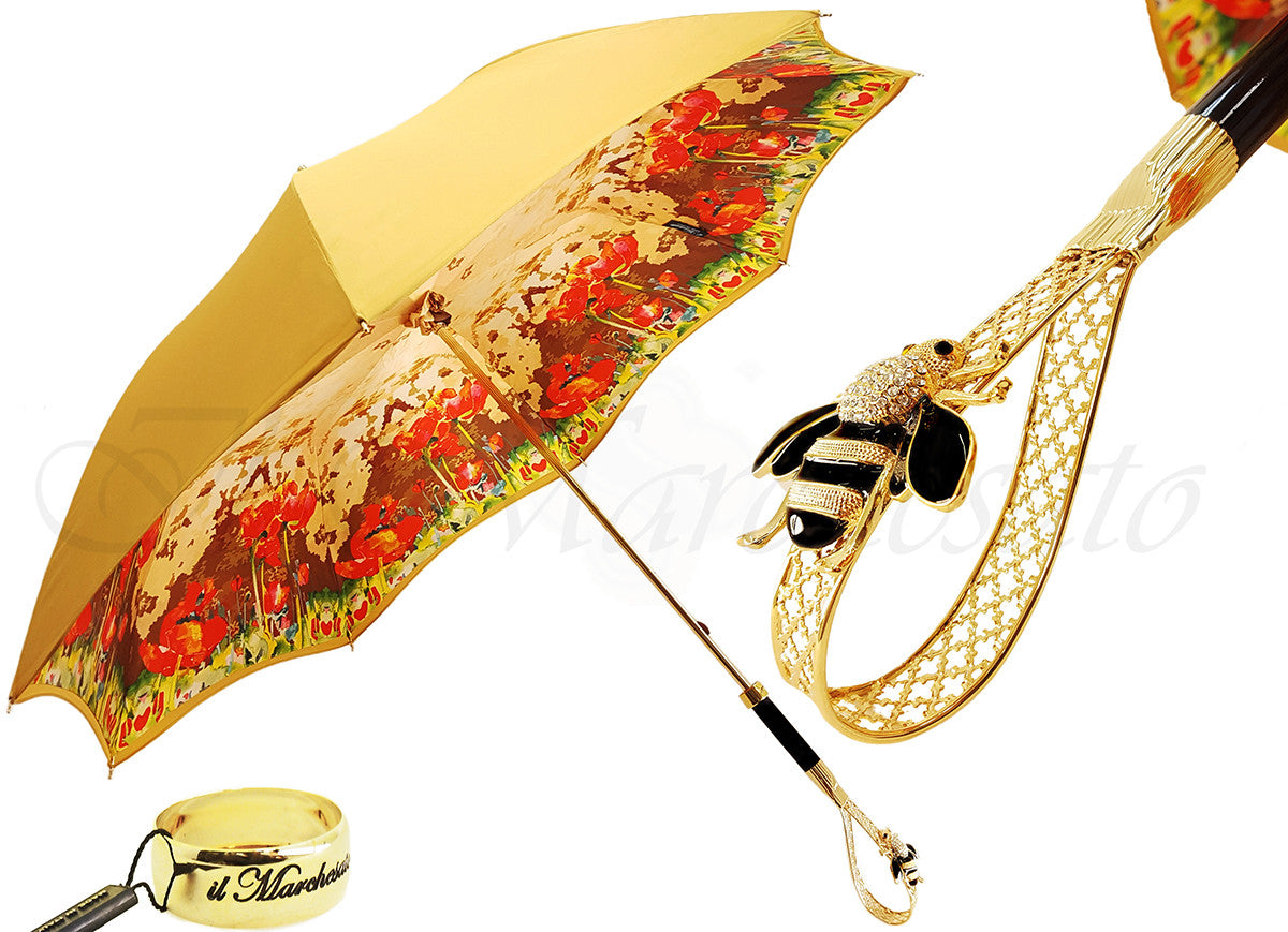 f6e1d3955 Wonderful Umbrella with Swarovski Crystal Bee Handle by il Marchesato