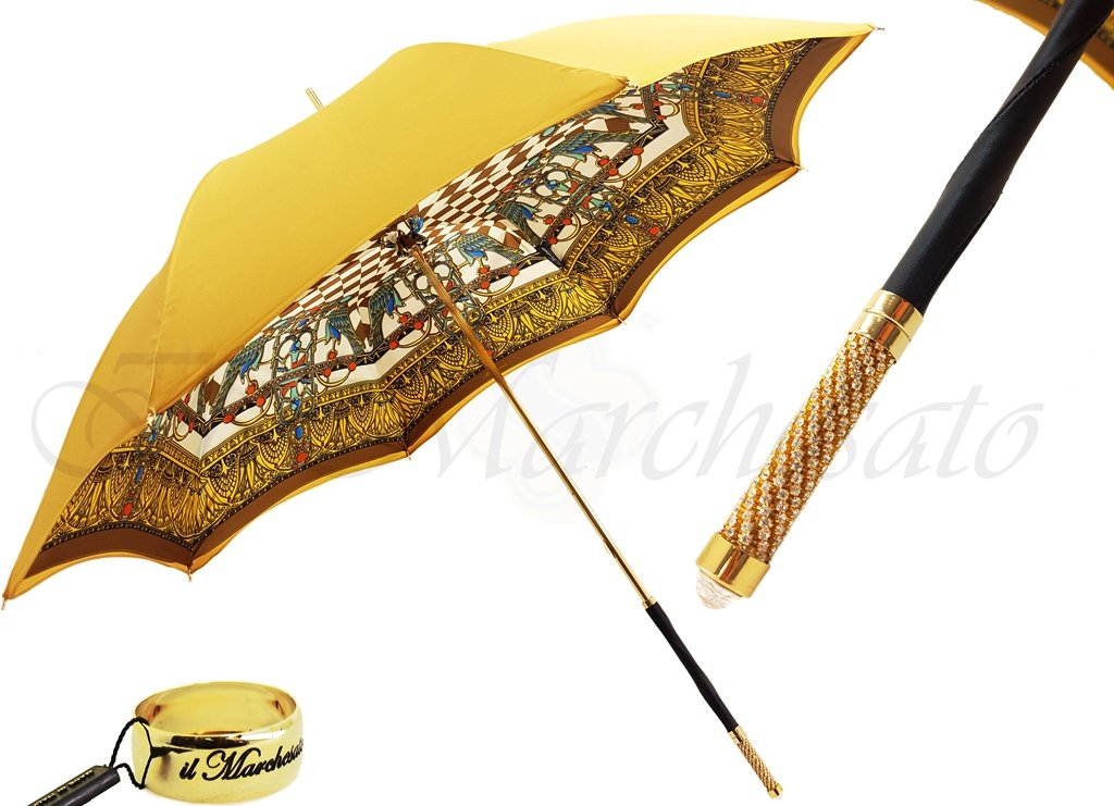 Double Canopy Ladies Umbrella - Egyptian style - il-marchesato