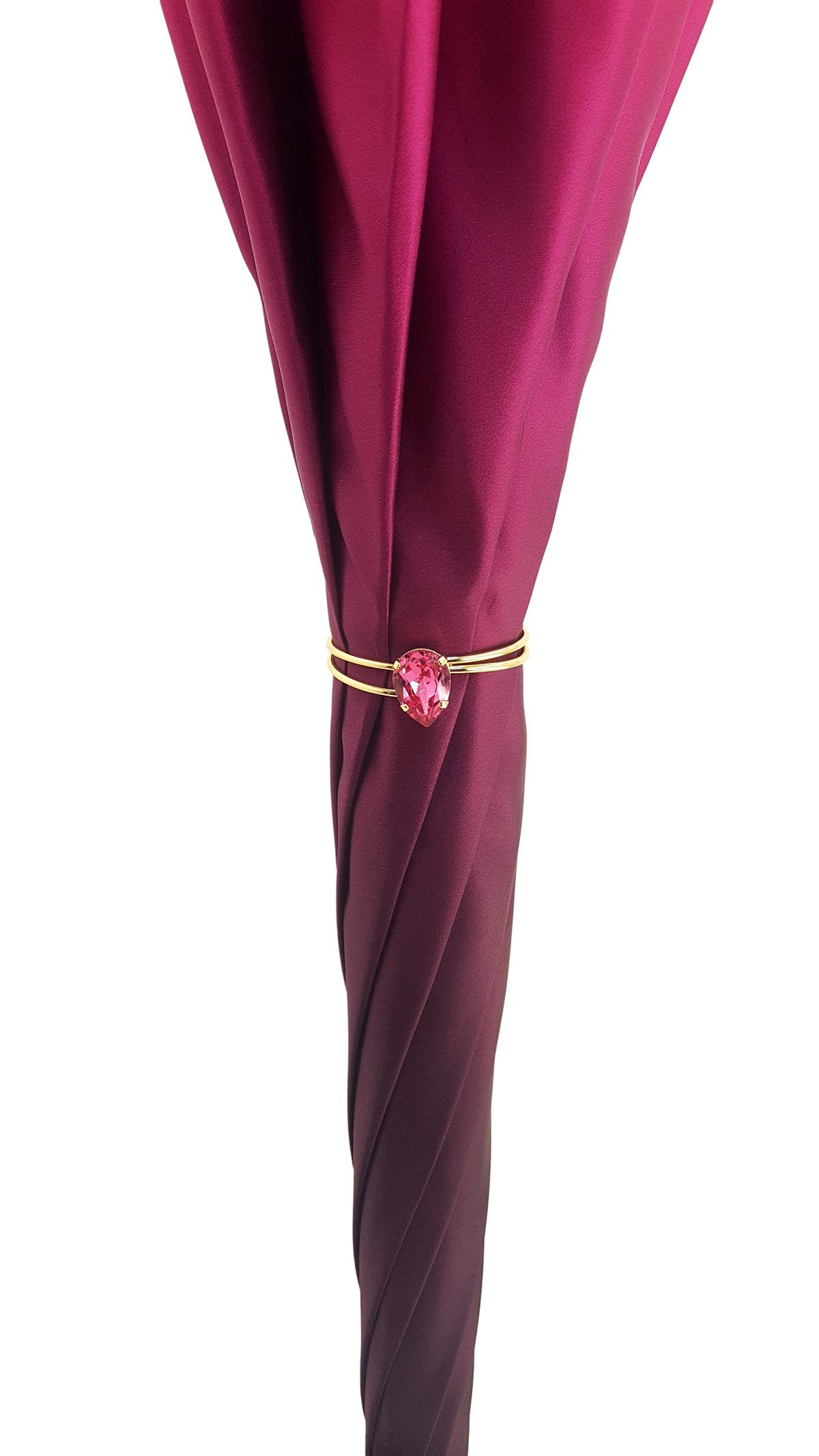 Beautifull Double Canopy Toucan Umbrella in a Luxurious Gradient Fuchsia Color - il-marchesato