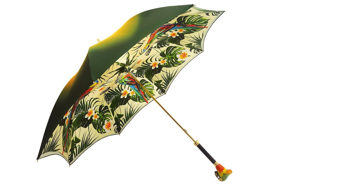 GREEN PARROT UMBRELLA