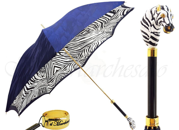 ENAMELLED ZEBRA DOUBLE CLOTH  UMBRELLA