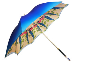 Swan Umbrella Amazing Enamel On Gold - il-marchesato