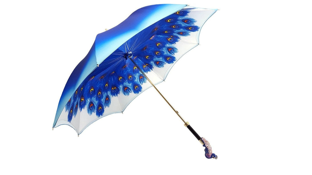 LUXURY PEACOCK DOUBLE CLOTH FASHION UMBRELLAS