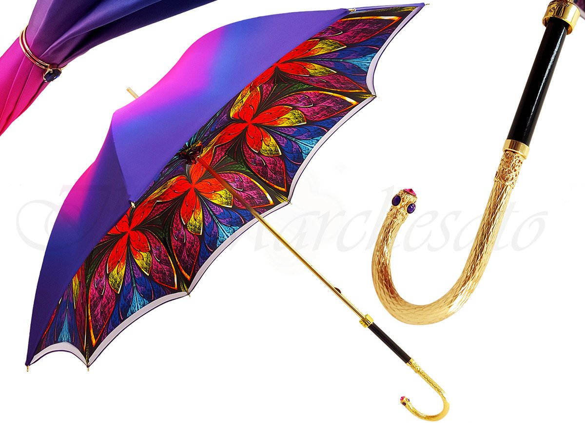 Women's Umbrella - Swarovski Cristals - Double Cloth