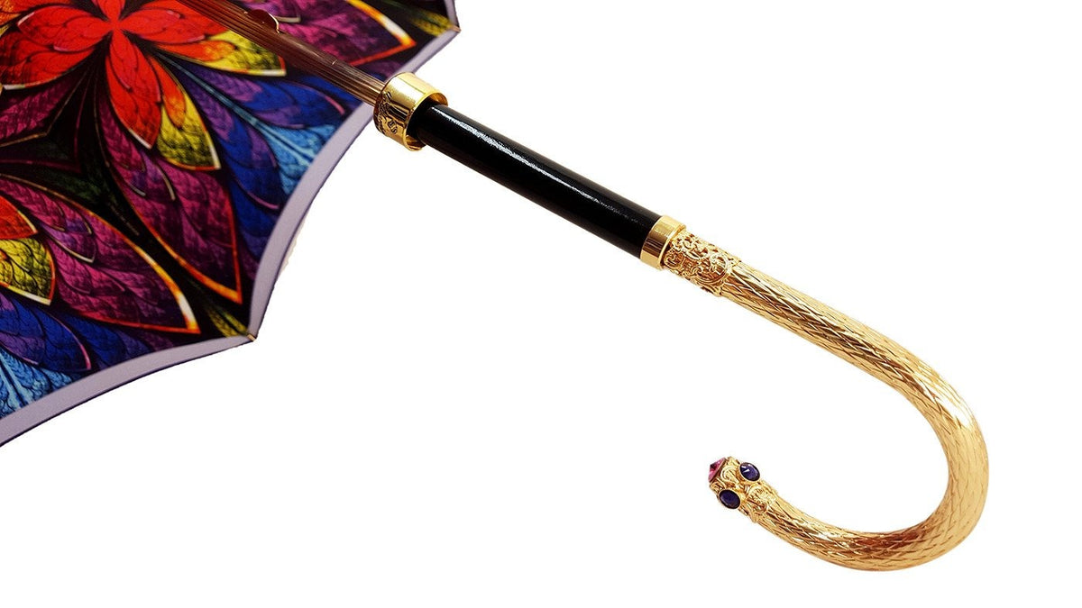 Women's Umbrella - Swarovski Cristals - Double Cloth - il-marchesato