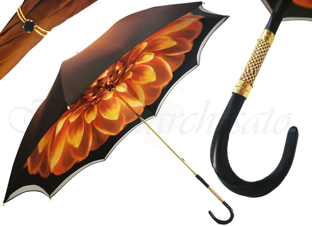 Brown DAHLIA double cloth umbrellas
