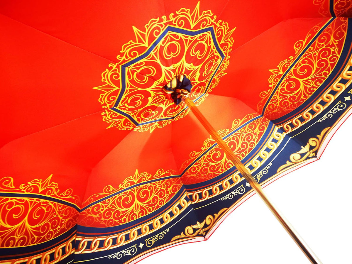 Luxurious Red Umbrella, Double Cloth - Abstract Design - il-marchesato