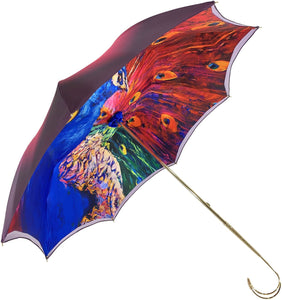 Fanciful Umbrella With peacock Design - il-marchesato
