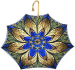 Load image into Gallery viewer, Luxurious Blue Umbrella, Double Cloth - Abstract Design - il-marchesato