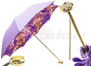 Lilac Flowers Umbrella, Double Cloth - il-marchesato