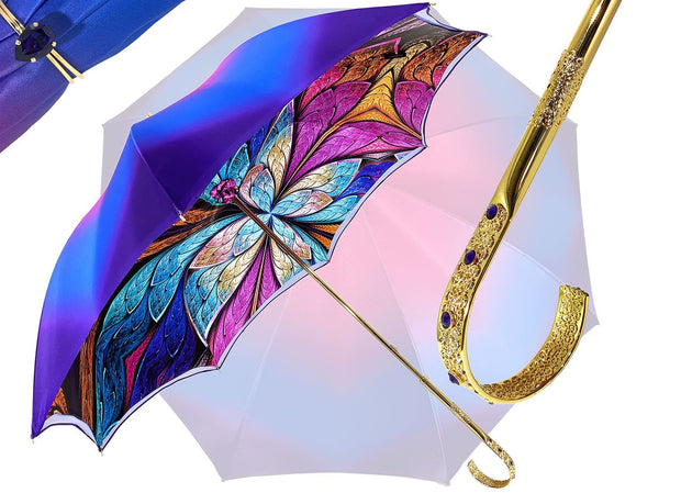 Fantastic Double Canopy Luxury purple Umbrella - il-marchesato