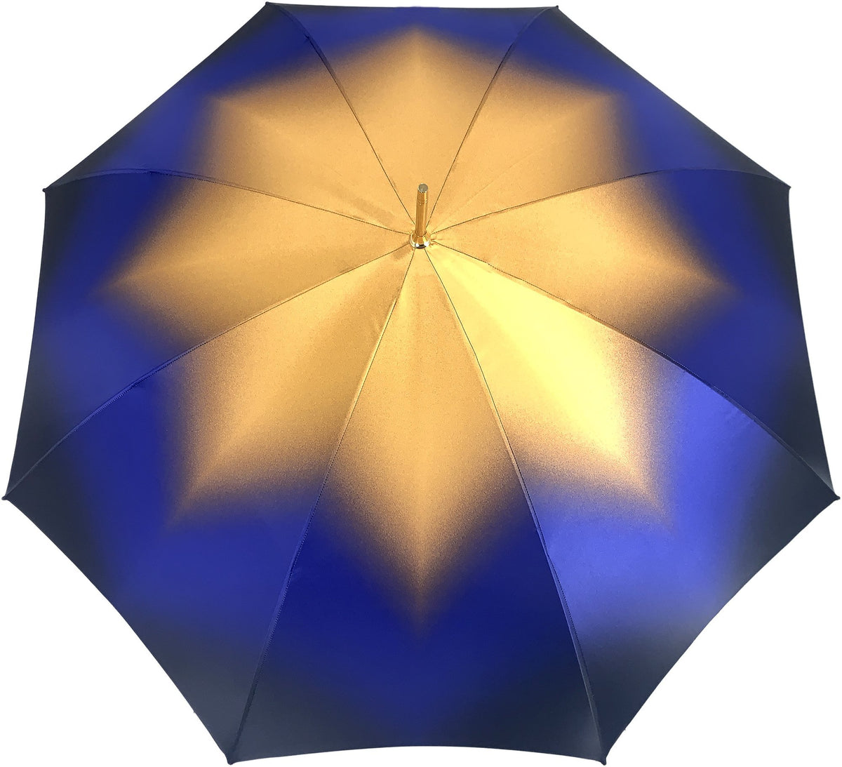 Beautiful Double Canopy Umbrella in a Luxurious blue Satin - il-marchesato
