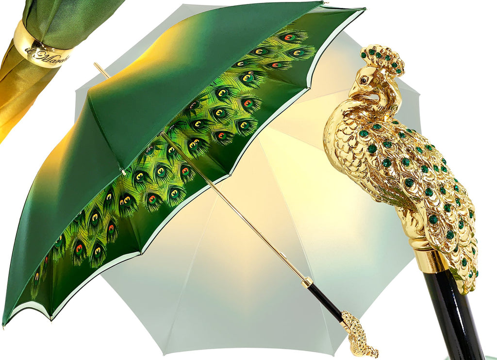il Marchesato Green Peacock Umbrella - il-marchesato