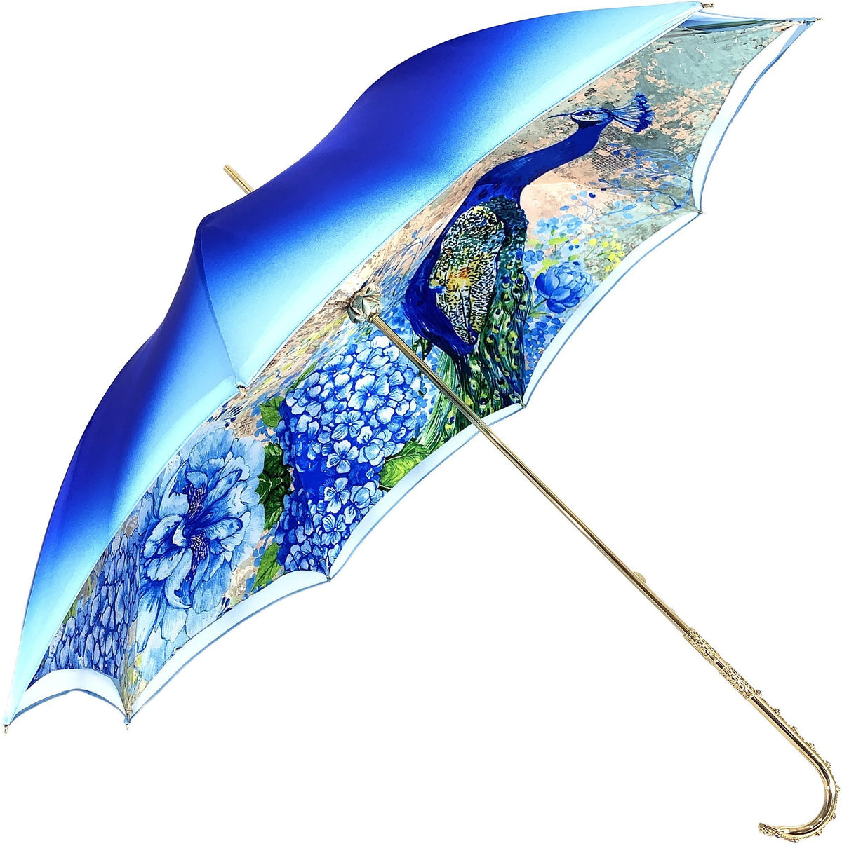 HANDMADE PEACOCK DOUBLE CLOTH UMBRELLA