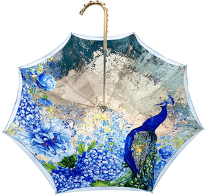 il Marchesato Luxury Peacock Umbrella - il-marchesato