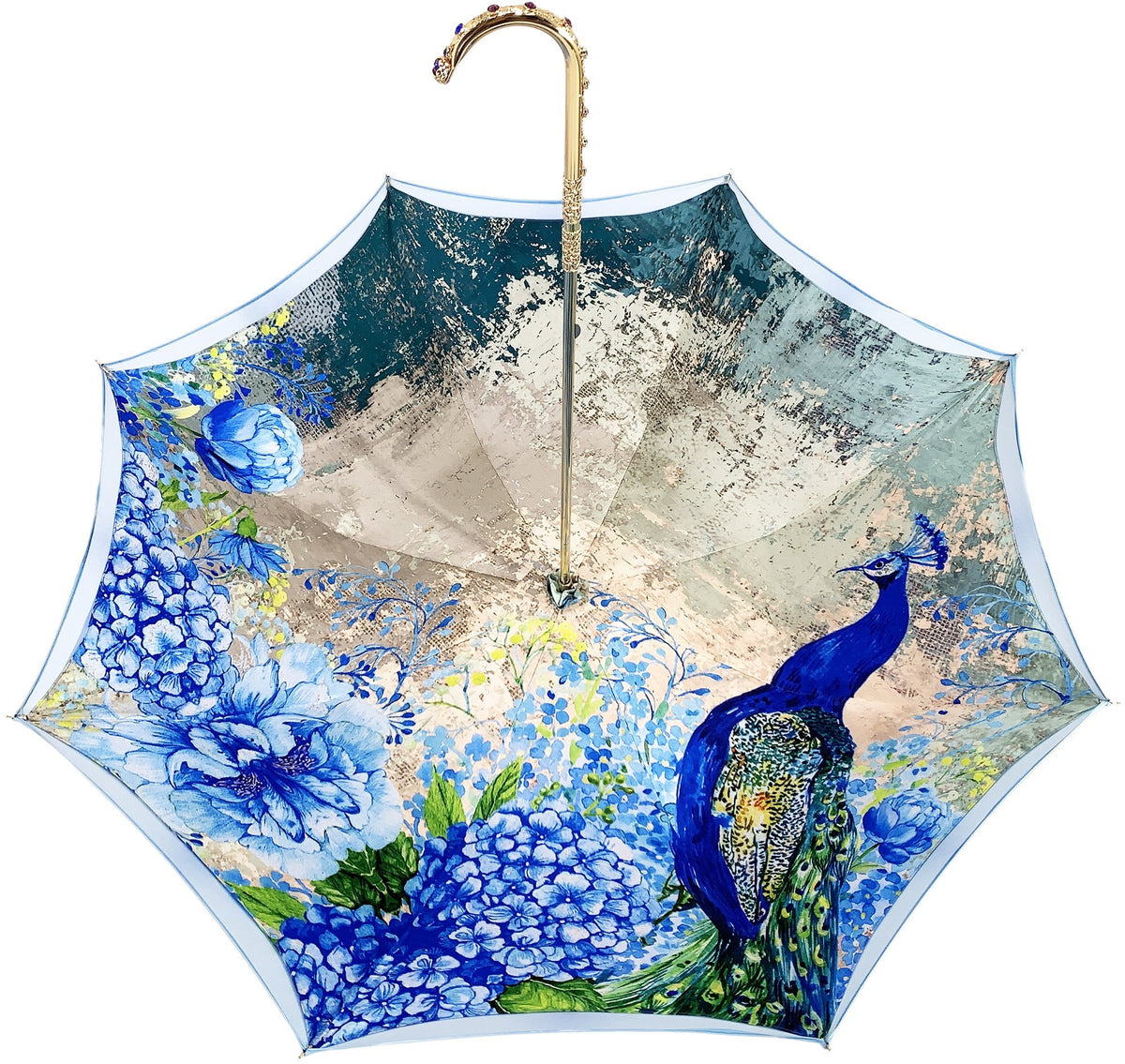 IL MARCHESATO PEACOCK UMBRELLA