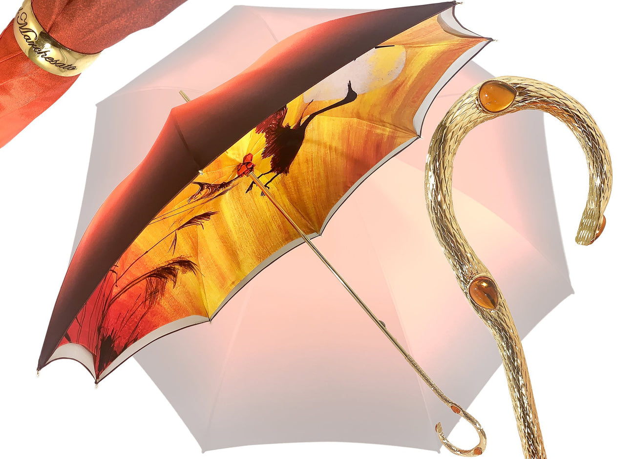 IL MARCHESATO HERONS IN FLIGHT UMBRELLA