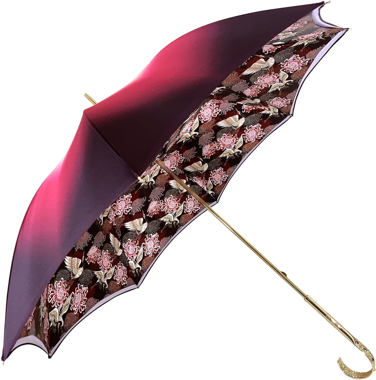 Beautiful Double Cloth Umbrella-  Exclusive Herons Design